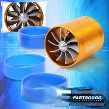 "3"" Jdm Racing Air Intake Turbo Turbine Turbonator Eco Fuel/Gas Saver Fan Gold"