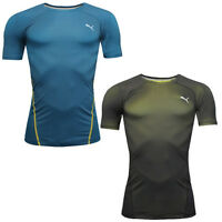 Puma Training ACTV Pwr Shoulder Compression Tee Top T-Shirt 513165 DD