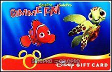 DISNEY 2010 UNDERWOLRD SEA ANIMATION NEMO GIMME FIN COLLECTIBLE GIFT CARD
