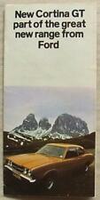 FORD CORTINA GT Car Sales Brochure Leaflet 1970-71