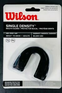Wilson Single Density Mouthguard without Strap Black Adult Mouthpiece BPA FREE