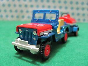 Rare Vintage - jeep Mitsubishi J3R Airport Service - 1/43 Dandy Tomica N°016