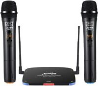 Digital Wireless Microphone Moukey Rechargeable System UHF Dual Channel