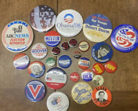 Vintage lot of  29  Political Campaign Buttons Pins