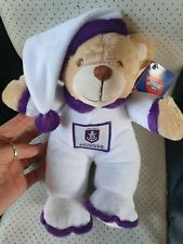 My First AFL FREMANTLE Official Goodnight Bear 25cm   10 Inches Official AF