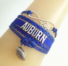 Infinity Love AUBURN Football Sports LeatherEuropean Braided Custom Bracelet