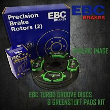 EBC 257mm FRONT TURBO GROOVE GD DISCS + GREENSTUFF PADS KIT SET KIT7323