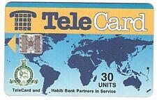 Pakistan - Chipcard - Telecard Worldmap 30 Units SN C4A147159 5000 Ex. - Usagée