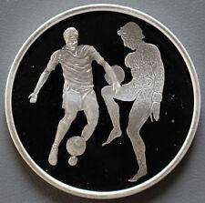 10 Euro OLYMPIA - FUSSBALLSPIELER Griechenland 2004 (1 oz Ag) mit COA -0209-