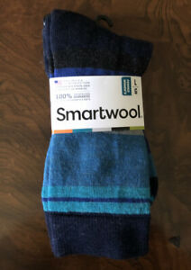Smartwool socks womens large L LG 10-11.5 Green black multi-color stripe