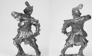 tin toy soldiers unpainted  54mm Polish dragoon, 17th century
