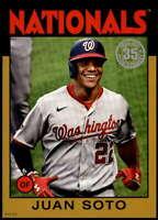 Juan Soto 2021 Topps 5x7 1986 Baseball 35th Anniversary Gold #86B-96 /10 Nationa