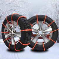 10Pcs Lots Car Snow Mud Wheel Tyre Thickened Tire Tendon Winter Anti-skid Chains