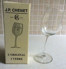 J.P. CHENET Wonky Stem Wine Glass - Etched glass in box - quirky fun