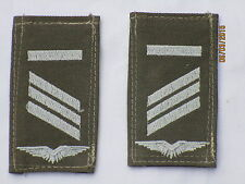 insignes de grade la BW : CAPORAL, entre autres, Armée l'air, blanc / olive,
