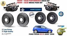 FOR FORD FOCUS ST170 2002-> FRONT + REAR PERFORMANCE BRAKE DISCS SET + PADS KIT