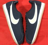 Nike Cortez Classic Premium Women's Black Cream White Running Shoes [905614-008]