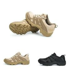 Mens Desert Comfort Low Top Breathable Combat Military Army Tactical Shoes New