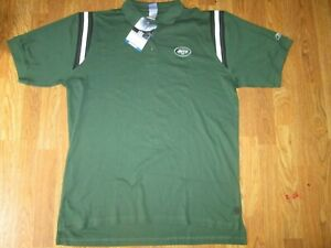 Mens NFL TEAM APPAREL NEW YORK JETS athletic collared golf polo shirt XL NWT