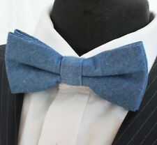 Bow Tie. Denim Blue . Premium Quality. Pre-Tied. BV25