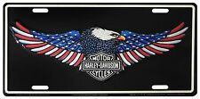Harley Davidson American Eagle Embossed Metal Vanity Car License Plate Auto Tag