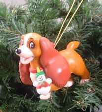LADY- LADY AND THE TRAMP DISNEY GROLIER CHRISTMAS COLLECTIBLE RARE XMAS ORNAMENT
