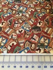"""Coffee Break cotton Fabric per yard quilting sewing 44"""" South Seas Import"""