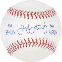 Jake Arrieta Chicago Cubs Signed Baseball w/ 2015 and 2016 No Hitter Inscs