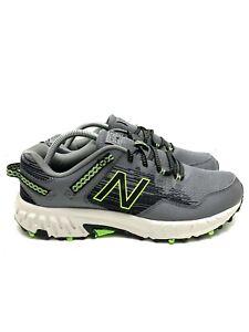 New Balance 410v6 Hiking Trail Running Shoes Grey/Neon Green/Black Men's 10.5