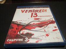 """BLU-RAY """"VENDREDI 13, CHAPITRE 3 : LE TUEUR DU VENDREDI 2"""" horreur"""