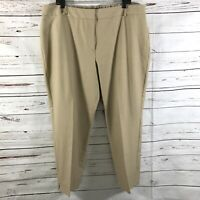 New Talbots Women's Heritage Crop Pants Khaki Stretch Size 20W NWT