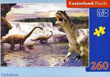 Castorland Puzzle - Diplodocus 260 Pieces from 8 Years Dinosaurs Size