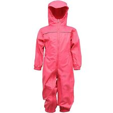 Regatta Kids Paddle Waterproof Breathable Rain Suit Trw466 Pink 24 - 36 Months - Height 92-98cm