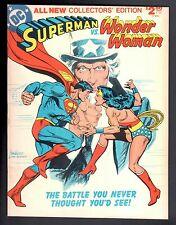 Superman Vs. Wonder Woman All New Collectors' Edition C-54 Dc Treasury 1978 Vf