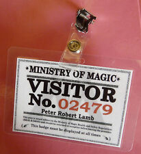 Harry Potter - Personalised *Ministry of Magic* Visitor's Pass
