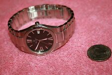 Bulova Man's Watch Stainless Steel Case with Date Water Resistant Runs Great!