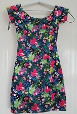 Ladies summer flowery mini dress / tunic size 8