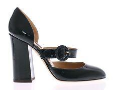 Nuevo Dolce & Gabbana Verde Charol Mary Jane Shoes S. Eu35/Us4.5