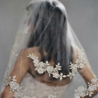 Women Veil Hair Comb White Rhinestone Wedding Bridal Flower Hair Accessories D