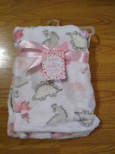 Zak & Zoey Baby Blanket Dinosaurs Dino Infant Lovey Girls Pink NEW NIP NWT