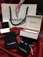 PANDORA GENUINE NEW BOX *CHARMS *EARRINGS* *BRACELET* *RING* GIFT BAG POUCH