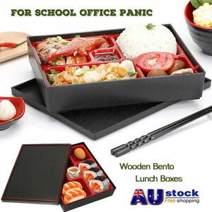 Japanese style Student Bento Lunch Storage Box Dinner Food Sushi Dishes  AU