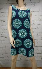 Princess Highway Dress Sleeveless Floral Blue Green Size 14