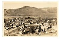 Rare RPPC photo postcard JOHN DAY OREGON bird's eye view town city 1928 history