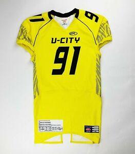 Rawlings U-City Football Jersey Neon Yellow Men's XL Game Fit