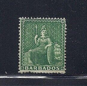 BARBADOS 1861 BRITANNIA SG 17 clean-cut perfs F MHR
