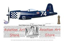 F2G Racer #74 signed by pilot, Cook Cleland, Aviation Art Prints, Ernie Boyette