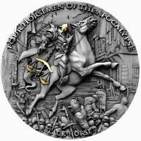 BLACK HORSE Four Horsemen Of The Apocalypse 2 oz Silver Coin  Niue