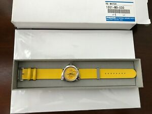 Mazda Rotary Wankle Engine Watch - History of RX 7 - LIMITED EDITION CMY YELLOW