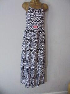 Girls Pepperts Geometric Cotton Maxi Summer Dress  Age 12-14 Years